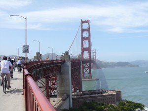 Golden Gate bridge by bike